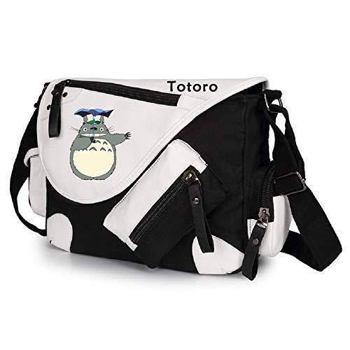 Siawasey Anime My Neighbor Totoro - Bolso bandolera negro 3. S