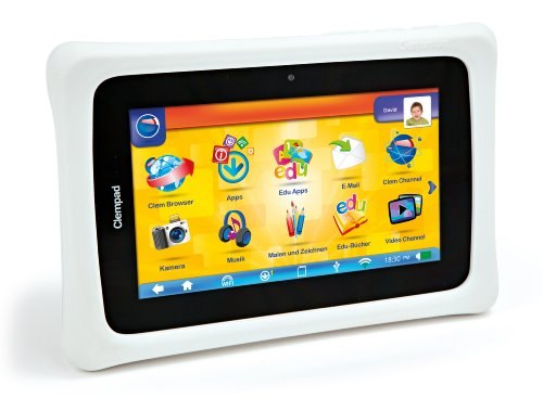 Clementoni 69293.4 - Kindertablet Clem Pad 6+ (WiFi, Android 4.1.1, 8 GB, 2 Kameras HDMI Anschluss)