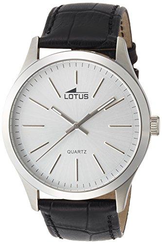 Lotus Herren Analog Quarz Uhr mit Leder Armband 15961/1