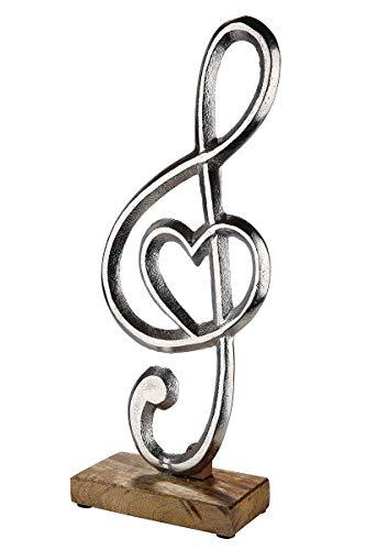 GILDE-sleutel met hart op mongohouten standaard van aluminium
