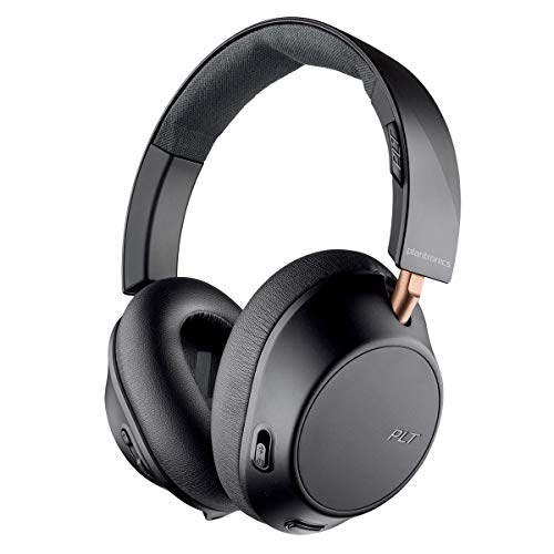 Plantronics BackBeat GO 810 Wireless Headphones, Active Noise Canceling Over Ear Headphones, Graphite Black