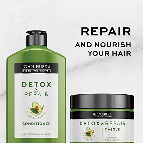 John Frieda Detox and Repair Conditioner, 8.45 Ounce Conditioner with Nourishing Avocado Oil and Green Tea