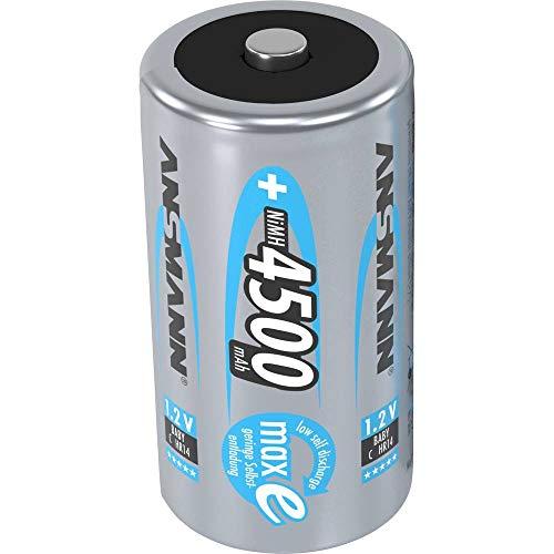 ANSMANN - 5035351 4500mAh MaxE–Batterie/wiederaufladbarer Akku (MH (NiMH), Universal, C, mehrfarbig) 241593
