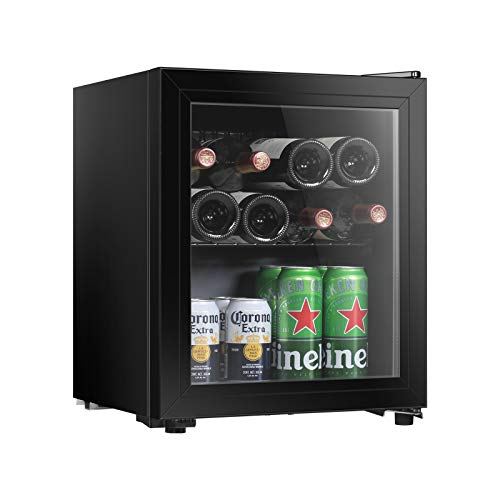 Hailang 19 bottle Wine cooler refrigerator, Wine fridge with Temperature Control and Lock, Freestanding wine…