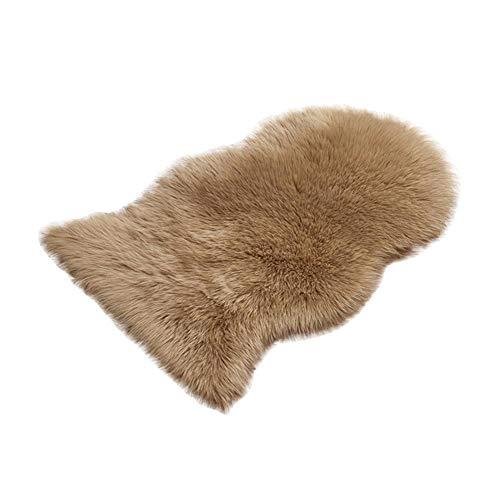 Salón Alfombra 60* 100cm alfombra infantil, artificial larga Alfombra de lana Alfombra, buena sensación de mano, Cuidado fácil, lavable a máquina