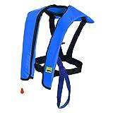 Premium Quality Manual Inflatable Life Jacket Lifejacket PFD Floating Life Vest Inflate Survival Aid Lifesaving PFD Basic Blue Color