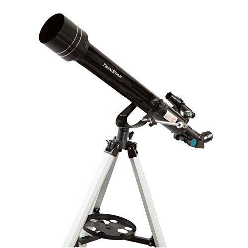 Twinstar 60mm Refractor Telescope (Black)