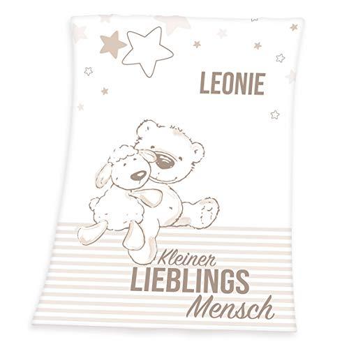 Herding Your Best Baby Kuscheldecke, Standardausführung oder Personalisiert mit Namen, Baustelle, 75 x 100 cm (Personalisierbar, Lieblingsmensch)