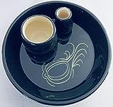 BonCera, Hand-Made Olive Dish, Black Design