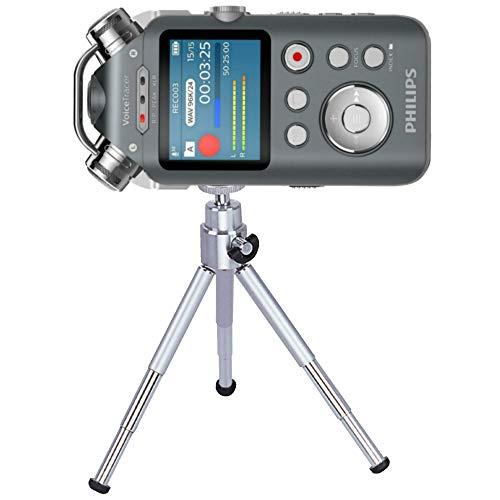 TronicXL Profi TRIPOD 15cm Stativ Diktiergerät Audiorekorder Aufnahmegerät 1/4 Zoll zb kompatibel für Roland Philips Tascam Sony Olympus Zoom H4n Pro H5 H6 mobile Recorder H2n Halterung
