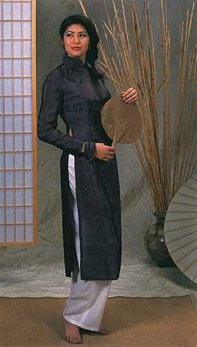 Ao Dai Nähmuster für vietnamesische Näharbeiten