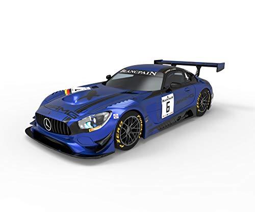 Scalextric-Mercedes AMG GT3 Black Falcon Coche Pista, Color Azul (Scale Competiton Xtreme 1)