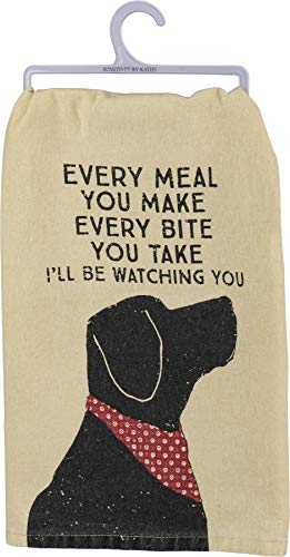 """Primitives by Kathy Rustic Dish Towel, 28"""" x 28"""", I'll Be Watching You"""