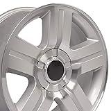 41uPXKeqijL. SL160 - OE Wheels LLC 20 Inch Fits Chevy Silverado Tahoe GMC Sierra Yukon Cadillac Escalade CV84 Silver Mach'd 20x8.5 Rim Hollander 5291