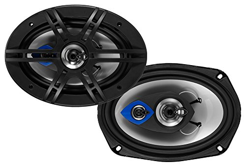 Planet Audio PL69 6 x 9 Inch Car Speakers - 400 Watts of Power Per Pair, 200 Watts Each, Full Range, 3 Way, Sold in Pairs