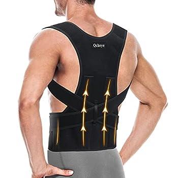 Back Brace Posture Corrector for Men and Women - Shoulder Lumbar Adjustable Breathable - Improve Posture and Relieve Pain for Neck Back and Shoulder XL 39 -45