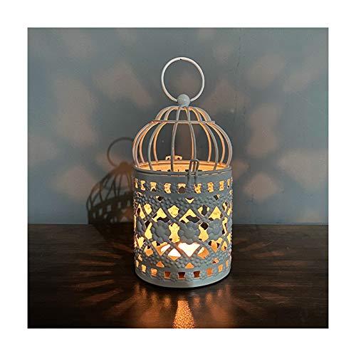 Candelabro romántico de hierro forjado antigüedades a prueba de viento colgar candelabro de hierro para el hogar y el jardín