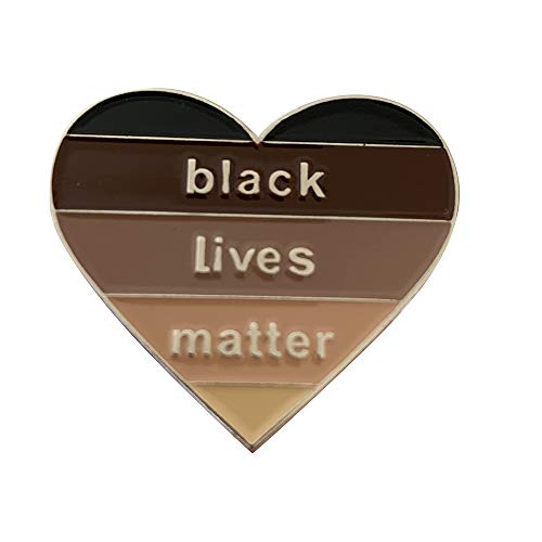 Prime Creations BLM Enamel Pin, Support the Black Lives Matter Pins for Women & Men, Gifts for BLM advocates | BLM Pins (Silver)