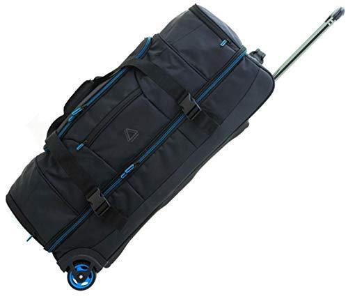 Reisetasche Schuhfach Doppeldecker Trolley XXL-Schwarz Blau 76 x37x33cm Bowatex