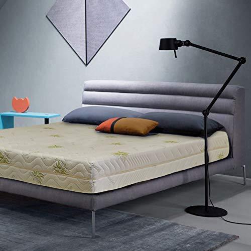 Sleepys Materasso Lattice 100% Francese 120x190 Alto 18cm Naturale. Fresco e Molto Traspirante. Fodera in Aloe Vera, Fresca, Morbida e ANTIAGE.