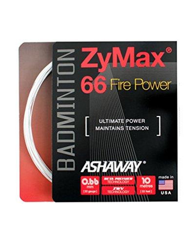 ASHAWAY Badminton-Set ZyMax 66 Fire Power, 0,66 mm, weiß
