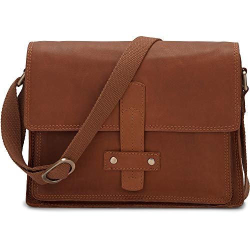 Cox Damen Crossbody-Bag Braun Leder 1