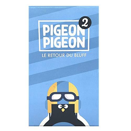 Juego de mesa Pigeon Pigeon 2 – Ambiente, Bluff, creatividad, humor – Fabricado en Francia