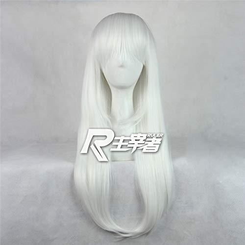 Anna Kushina Cosplay peluca K Anime K-project blanco largo recto disfraz jugar pelucas Halloween fiesta de Halloween accesorios postizo