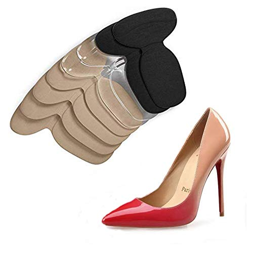 Schuhe Fersenschutz, Fersenpolster Fersenhalter für zu große Schuhe/High Heels, 4 Pairs Gel High Heel Pads Set