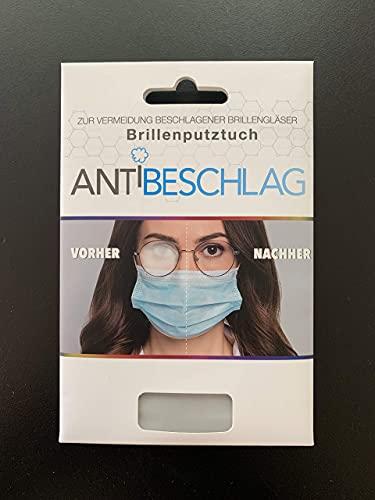 Antibeschlag Mikrofaser Brillenputztuch - schadstoffgeprüft