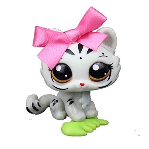 FINIMY Tienda de Mascotas Juguetes Lps Juguete Littlest Pet Shop Toy Pet Shop Blanco Gris Tigre...