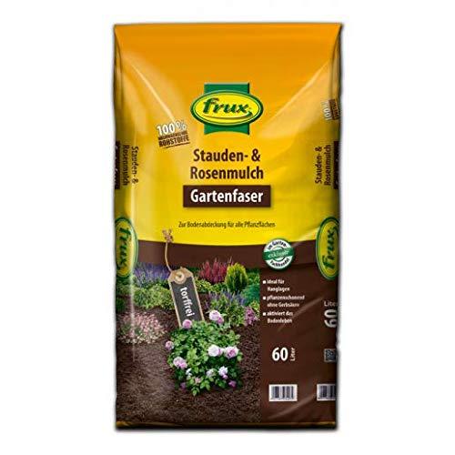 frux Stauden- & Rosenmulch – Gartenfaser -torffrei- 60 Liter