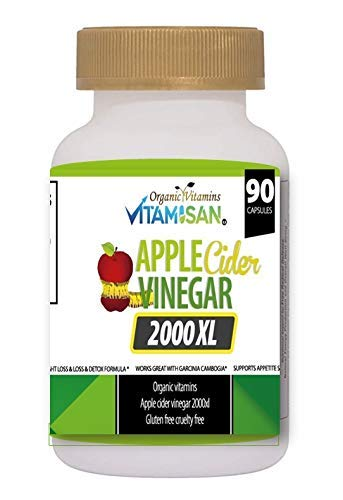 HIGH POTENCY APPLE CIDER Vinegar 2000mg Pure Diet Weight Loss Pills Fast Organic Vitamins