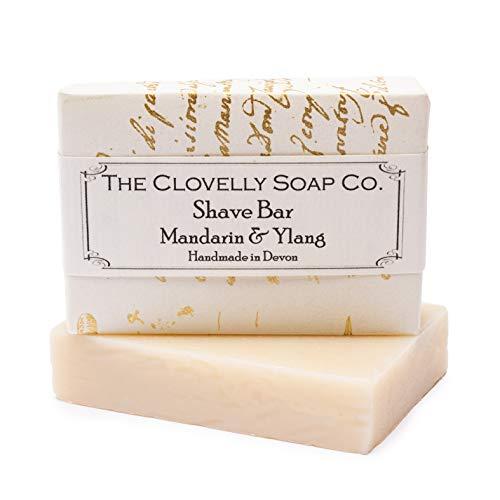 Clovelly Soap Co Natürliche handgemachte Rasierseife für alle Hauttypen Mandarine & Ylang-Ylang 100g