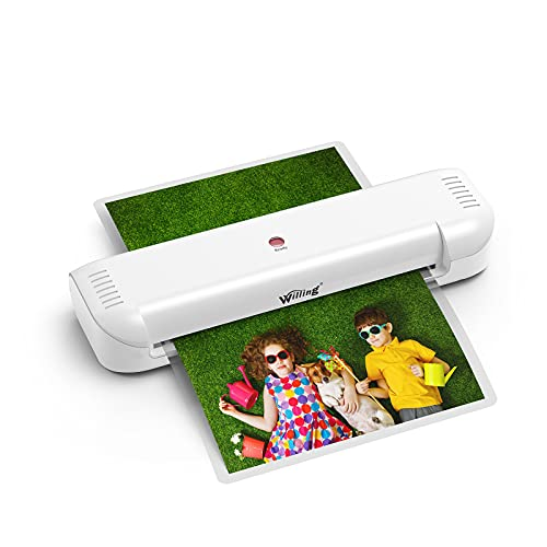 Laminator Machine, Willing Thermal Laminator for A4/A6 with 20 Laminating Pouches, Personal Laminator for Home Use School Teachers Office Card Classroom, 9 inches, Lightweight and Portable