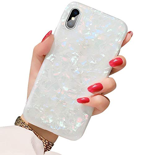 BOFTALE Cute Case for iPhone XR, Girls Women Glitter Pretty Design Best Protective Slim Shockproof Clear Bumper Soft TPU Silicone Cover Stylish Phone Case Compatible iPhone XR Colorful