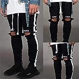 TOSISZ Jeans Men Fashion Streetwear Men's Hip Hop Jeans Vintage Gray Color Skinny Destroyed Ripped Jeans...