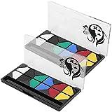 SALUTUYA Kit de Pintura Facial de 2 Juegos, Pinturas para Pintura Facial, Adecuado para Pieles sensibles Que se Pueden Utilizar en Modelado Nupcial