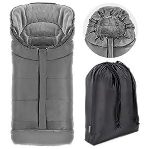 Zamboo – Saco de invierno para Silla de Paseo Joie (se adapta a Litetrax, Mytrax, Chrome) – Saco de abrigo con Forro…