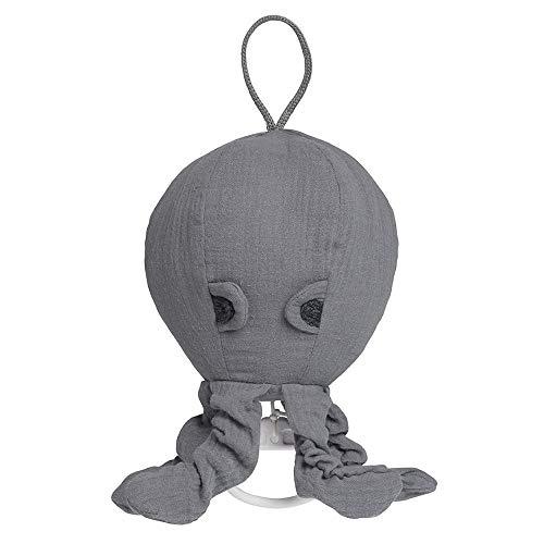 BO Baby's Only - Spieluhr Oktopus Breeze - Anthrazit - 100% Baumwolle