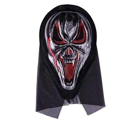 lxylllzs Karneval, Motto- & Grusel-Party,Erwachsene Zombie Kopfbedeckung Maske, Halloween Horror Requisiten-10,Cosplay Dekoration Halloween Gruselige,