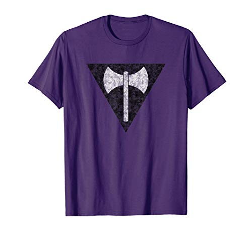 Vintage Lesbian Labrys Axe Pride Flag Shirt Gift Women Girls T-Shirt