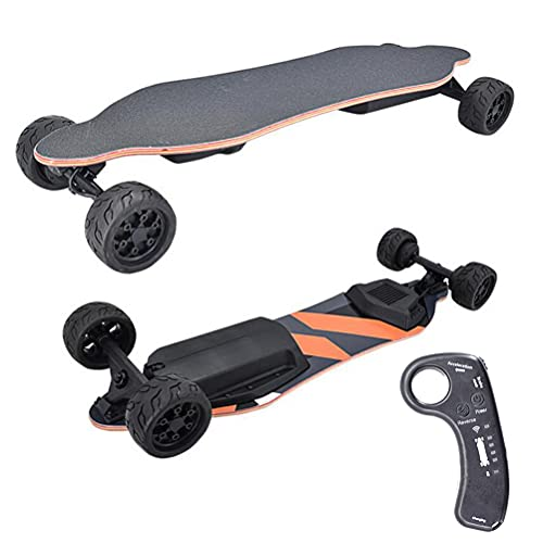 ANAN Skateboard Elettrico carico Massimo di 264 libbre, 38 Pollici Skateboard Elettrico Longboard, Elettrico Longboard con Telecomando a 2,4 GHz, E-Skate Gamma Crociera 43 km, velocità Max 40 km/h