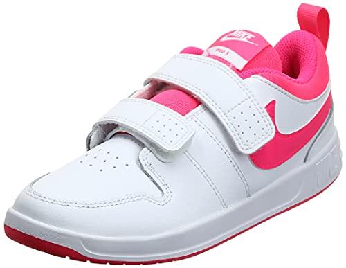 Nike Pico 5 (TDV), Scarpe da Ginnastica Unisex-Bambini, White/Hyper Pink, 25 EU