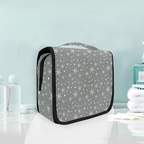 Point Gris Neige Trousse De Toilette Sac Pliable Suspendu Cosmétique Sac Rangement Maquillage sacs pour Voyage Femmes Filles