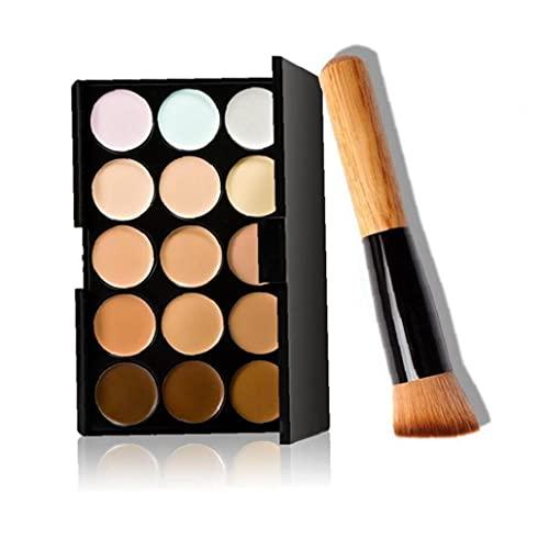 Schönheitsprodukte 1pack 15 Farben Concealer-palette Set Volle Abdeckung Foundation High Pigmented Cream-basierte Concealer Pro Natural Contour Highlighter-palette Für Frauen (mit 1...