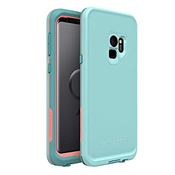 Lifeproof FRĒ SERIES Waterproof Case for Samsung Galaxy S9 - Retail Packaging - WIPEOUT  BLUE TINT/FUSION CORAL/MANDALAY BAY