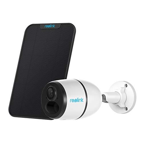Reolink Telecamera di Sicurezza 3G & 4G LTE da Esterno Alimentata a Batteria o Energia Solare, Go + Pannello Solare, Senza Fili, Visione Notturna 1080P, PIR Sensore, Slot per Scheda SD