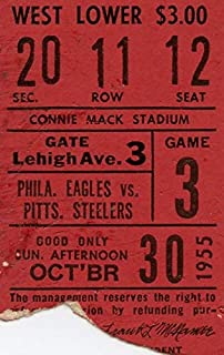 Philadelphia Eagles Ticket Stub 10/30/1955 vs Pittsburgh Steelers 142351