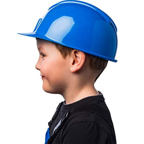 Adorable Casco de Constructor para nio y nia/Azul/Genial Accesorio para Traje de obrero/Adecuado para Festivales Infantiles y Fiestas de cumpleaos